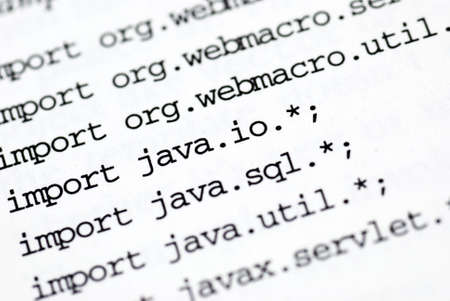 a close up of java programming code Stock Photo - 8724780