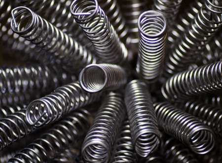 a close up of several metal springs Stock Photo - 9347923
