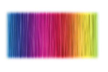 an abstract rainbow pattern on a white background