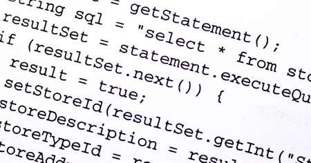 code computer: El c�digo fuente de un programa de ordenador Foto de archivo