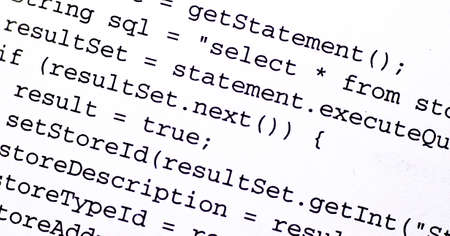 source code: Source code from a computer program Stock Photo