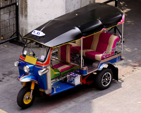 a colorful tuk tuk taxi in bangkok, thailand Stock Photo