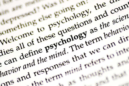 a closeup of the word psychology in a book