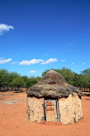 An traditional african hut belonging to the people of the himba tibe in namibia Stock Photo