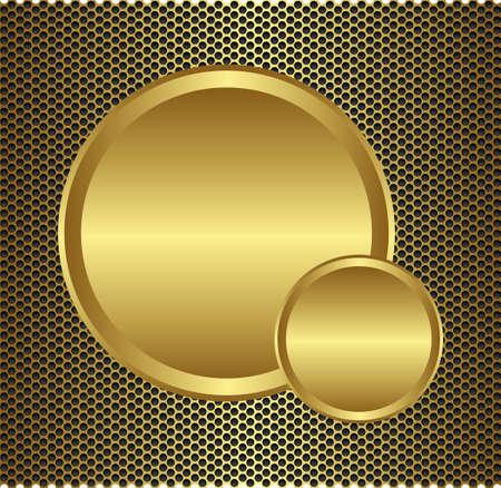 metal plaque: gold fiber