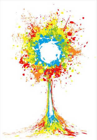 paint splash illustration Vector
