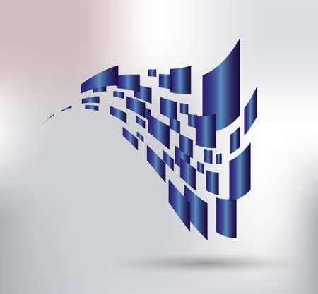 logotipo de construccion: 3d spape de marcos