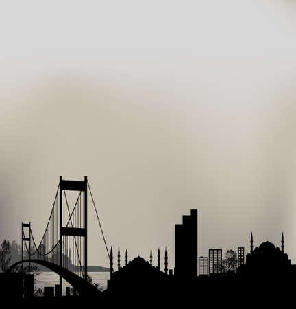 turkey istanbul: istanbul and Bosphorus bridge
