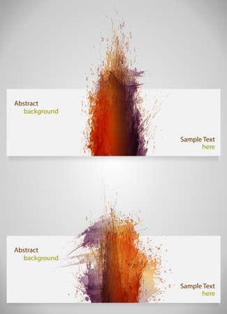 disheveled: ink splashes card Illustration