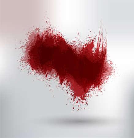 disheveled: ink splashes