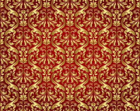seamless floral vintage pattern Çizim