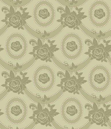 sealess floral vintage pattern Vector