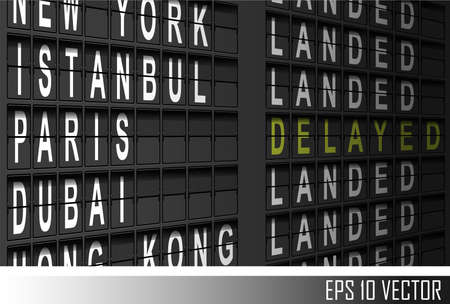 the delayed: airport departure display
