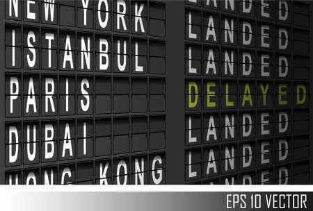 flight board: airport departure display
