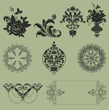 ornament vector set Vector