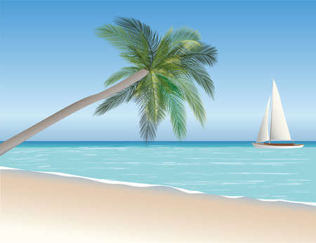 seascape vector illustration Stock Vector - 22456377