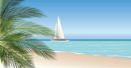 seascape vector illustration Stock Vector - 22456378