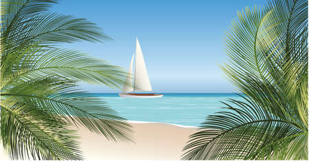 seascape vector illustration Stock Vector - 22456380