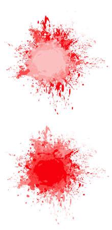 splashed: red ink splashed