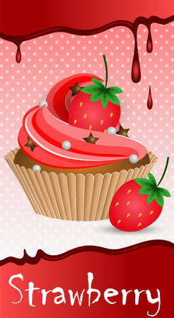 dessert stand: cup cake strawberry