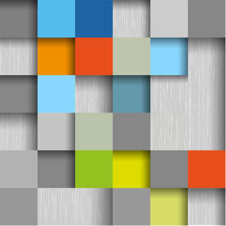 seamless metal: colored square design