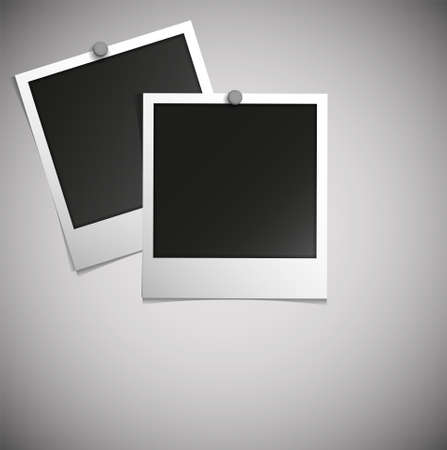 polaroid frame: polaroid photo Illustration