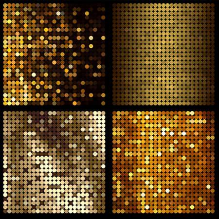 patch of light: fondo oro Vettoriali