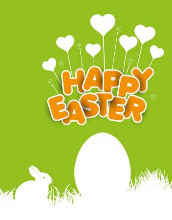 april beautiful: Happy Easter Illustration