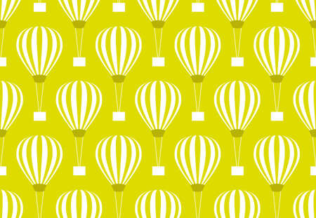 Retro seamless travel pattern of balloons Vector