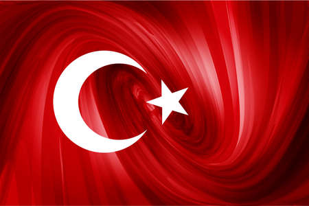 turkish flag: Turkish Flag  Red abstract background stars and the moon Illustration