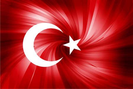Drapeau rouge turc des étoiles abstrait et la lune