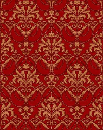 claret: damask seamless pattern