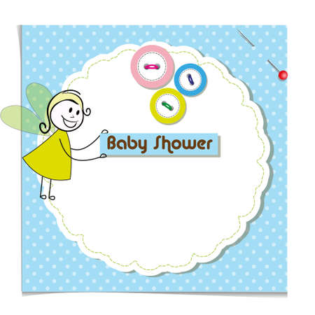 baby shower invitation template Cute vector card Vector