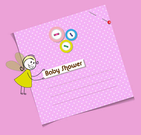 baby shower invitation template Cute card Vector
