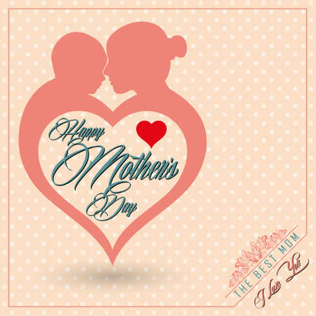 love mom: madre feliz d�a s Vectores