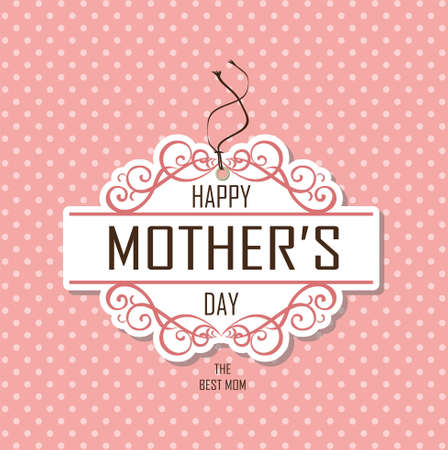 mother   s day: madre feliz d�a s Vectores