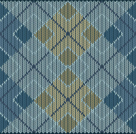 Vector Seamless Argyle Sweater Background, Detailed Illustration
