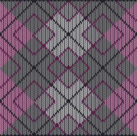 fabric samples: Vector Seamless Argyle Sweater Background, Detailed Illustration