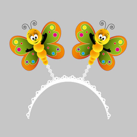 cute colorful butterfly crown Illustration