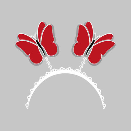 queen s: cute red butterfly crown
