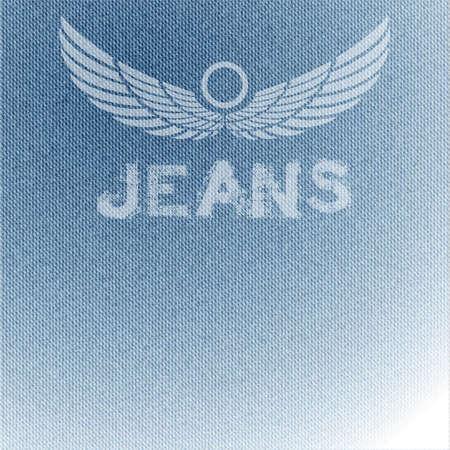 blue jeans: jean fabric pattern  Illustration