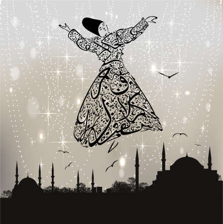 calligraphy dervish and istanbul mosques
