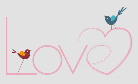 hearted: hearted love writing and birds
