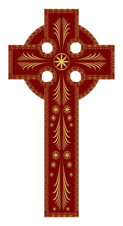 Ornate Christian Cross Vector Vector