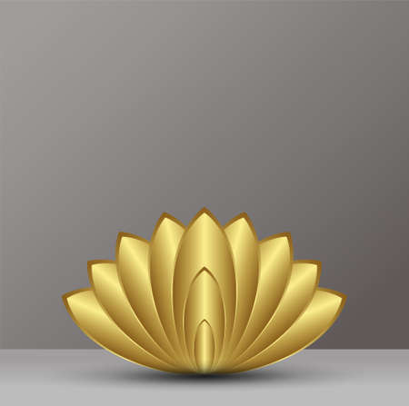 fortune flower: abstract gold lotus