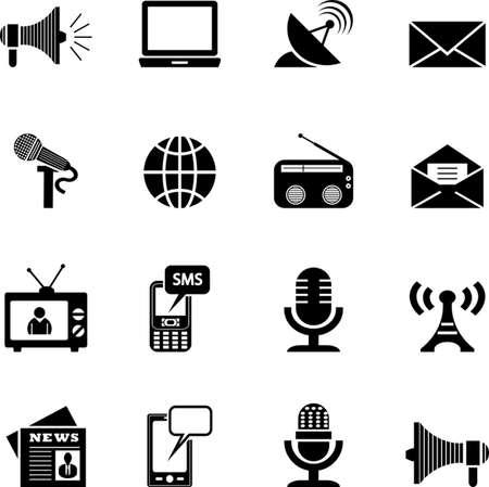 Media Iconen Stock Illustratie