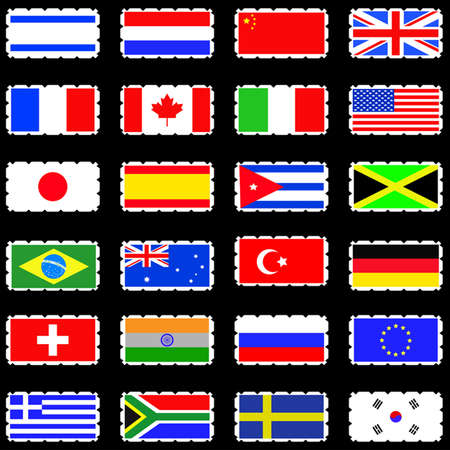 Flags icon set  Vector