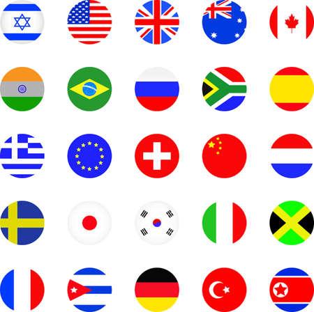 Flags icon set  Illustration