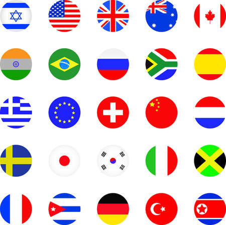 eu flag: Flags icon set  Illustration