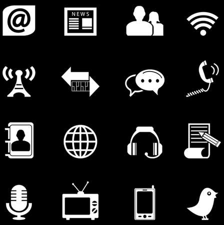 adress book: communication icons